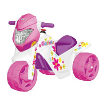 Moto Elétrica Ban Gatinha El 6v Branco/rosa 2581 - Bandeiran