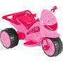Triciclo Moto Elétrica 6v Infantil 3km/h Rosa Pink Star 1112