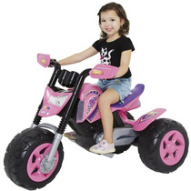 Moto Eletrica Infantil Elite Rosa Brinquedo Menina Xalingo