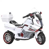 Super Moto Elétrica Branca Recarregável Suporta Até 30kg