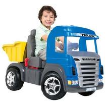Caminhao Truck A Pedal Azul Cabine Magic Toys Frete Gratis