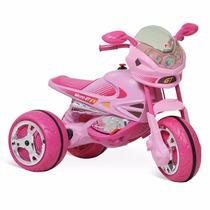 Super Moto Elétrica Bandeirante Infantil Gp Gatinha 6v Femin