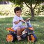 Moto Elétrica Infantil Speed Cinza E Laranja 6v 3km/h Brink+