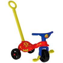 Triciclo Cachorrinho Com Empurrador - Xalingo Brinquedos