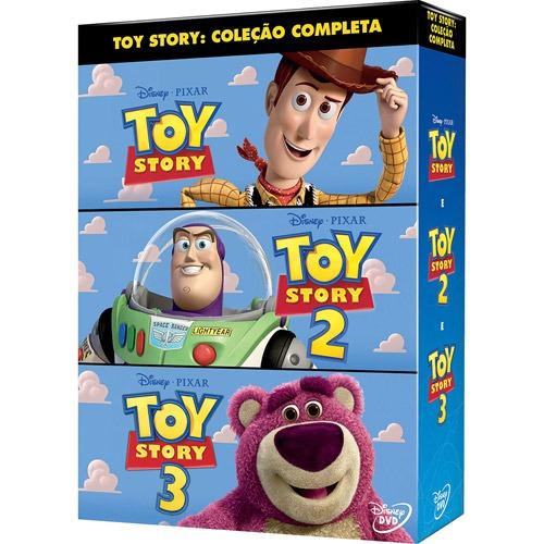 Trilogia Toy Story Dvd Disney Pixar Infantil Carros