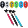 Controle Remoto Bluetooth Shutter + Monopod Iphone Galaxy Lg
