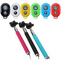 Kit Bastão Selfie Monopod + Controle Bluetooth Para Celular