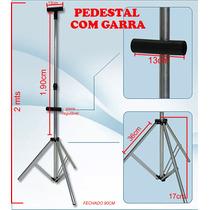 Tripé C/ Garra, Pedestal, Suporte/ Porta Banner C/ Capa Tnt
