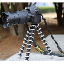Tripé Flexível Octopus Médio Para Câmera Fotográfica