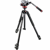Manfrotto Mt190x3 + Mvh502ah - Tripé Profissional Filmadora