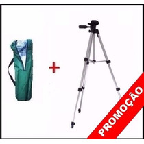 Tripe Aluminio Universal 1.30mt Camera Filmadora Telescopio