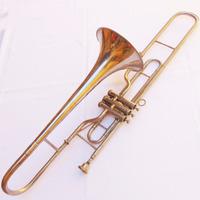 Instrumento De Sopro Trombone De Pisto Usado Objetos Antigos