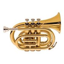 Trompete Eagle Tp520 Pocket Em Sib (bb) Com Case - Laqueado