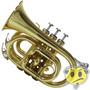 Trompete Pocket Shelter Dourado Laqueado + Case Tjs6500l Sib
