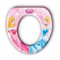 Assento Vaso Sanitário Infantil Almofadado - Princesas