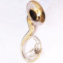 Instrumento Musical Sopro Sousafone Mi Bemol Objetos Antigos