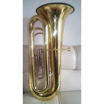 Tuba Besson 4/4 Sib Inglesa Dourada