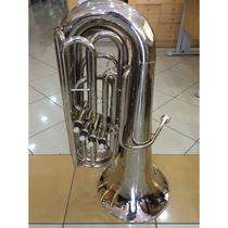 Tuba Compacta 3/4 Weril Niquelada - 4 Pistos (revisada)