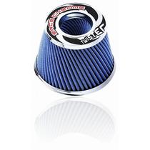 Filtro Ar Esportivo Race Chrome Duplofluxo 15cm Twister Azul