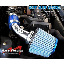 Kit Intake Air Cool Com Filtro Esportivo Duplo Fluxo P/ Gm