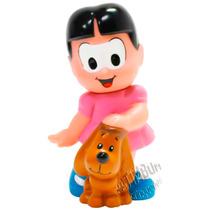 Boneca De Vinil Rosinha Com Mascote Cachorro Turma Da Mônica