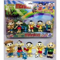 Kit Miniaturas Bonecos Turma Da Mônica Cebolinha Sansão 6 Pç
