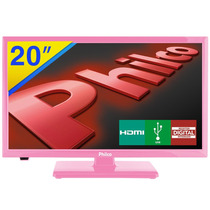 Tv Led 20 Philco Hdtv - Rosa - Ph20u21dr