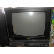 Tv Sharp 14 Polegadas - Vintage/retro - C1692b - Raridade !!