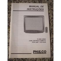 Manual De Instruções Tv Em Cores Philco Pcr-1449 Pcr-2049