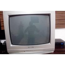 Tv De 21 De Tubo Com Controle Remoto, Muito Conservada