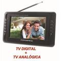 Tv Portatil 7 Pol. Powerpack Avtv-782.b2s Digital+analogica