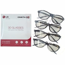 Kit 4 Óculos 3d Glasses Lg - 100% Original - Frete Grátis
