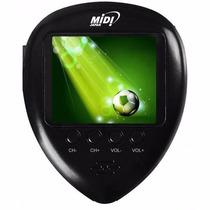 Mini Tv Portatil Lcd 1.8 Midi Tv Fm E Relógio De Bolso