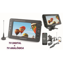 Tv 9 Polegadas Digital E Analogica Com Bateria Powerpack 986