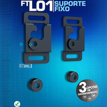 Suporte Fixo De Parede Ultra Fino Para Tv, Ft-l01 - Fixatek