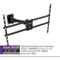 Suporte Tv Articulado Super Hd300 Multivisao 22 A 65 Polegas