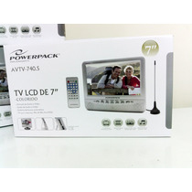 Tela Lcd Tv Analógica Portatil Powerpack Avtv740s 7 Pol.