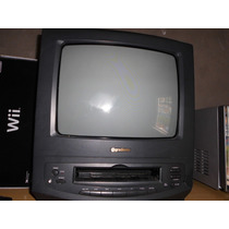 Tv 14 Com Video Cassete Integrado, Vhs Com Controle Remoto.