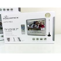Tela Lcd Tv Analógica Portatil Powerpack Avtv740s 7 Pol.