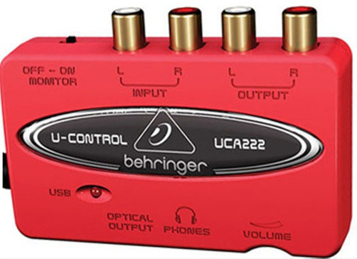 Uca222 Interface Uca-222 Usb Audio E Instrumentos Behringer