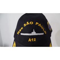 Boné Chapeu Marinha Do Brasil Porta Aviões Nae São Paulo A12