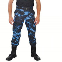 Calça Masculina Ripstop Camuflada Woodland Azul Tam 40