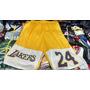 Bermuda/shorts Basquete Nba Lakers Amarelo Tamanho Único