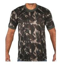 Camiseta Camuflada Dry Fit Exército Brasileiro - Tamanho M