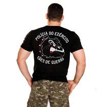 Camiseta Bordada, Pe. Cães De Guerra , Exército , Militar