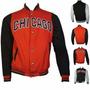 Jaqueta Chicago Bulls Vermelha E Preta Time De Basquete