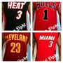 Camisa Nba Chicago Bulls Miami Heat Lakers E Outros