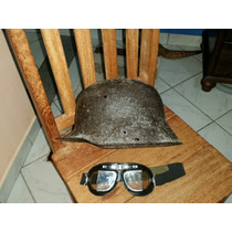Capacete M40 Alemanha Segunda Guerra Gratís Óculos Original.