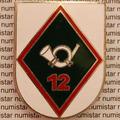 Antigo Dom Broche Distintivo Organização Militar Coleção