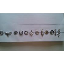 Distintivos De Gola Fab, Metálico,prateado,diversos Quadros.